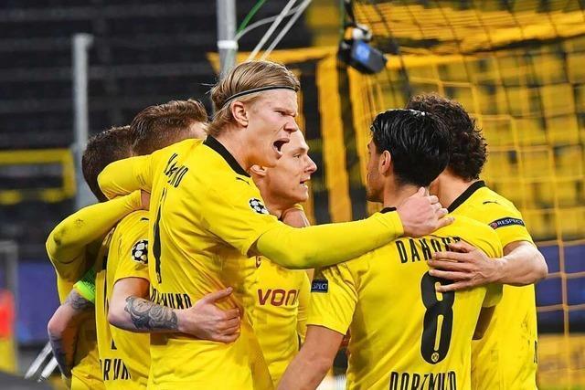 Haaland schießt Dortmund ins Viertelfinale