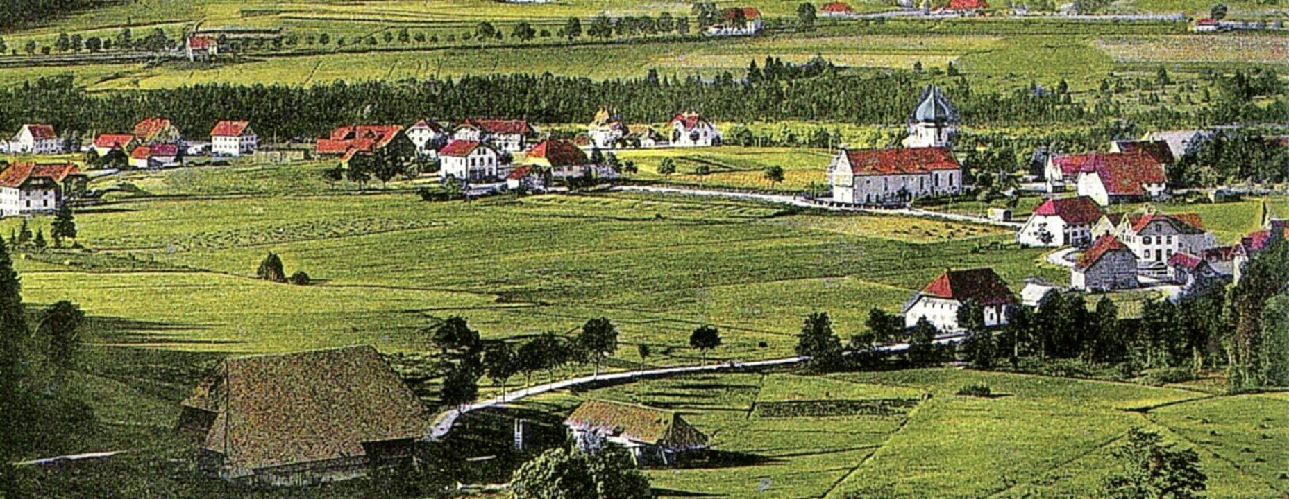 Auf dieser historischen Postkartenansi...rische Schwefelquelle befunden haben.     Foto: Archiv Roland Weis