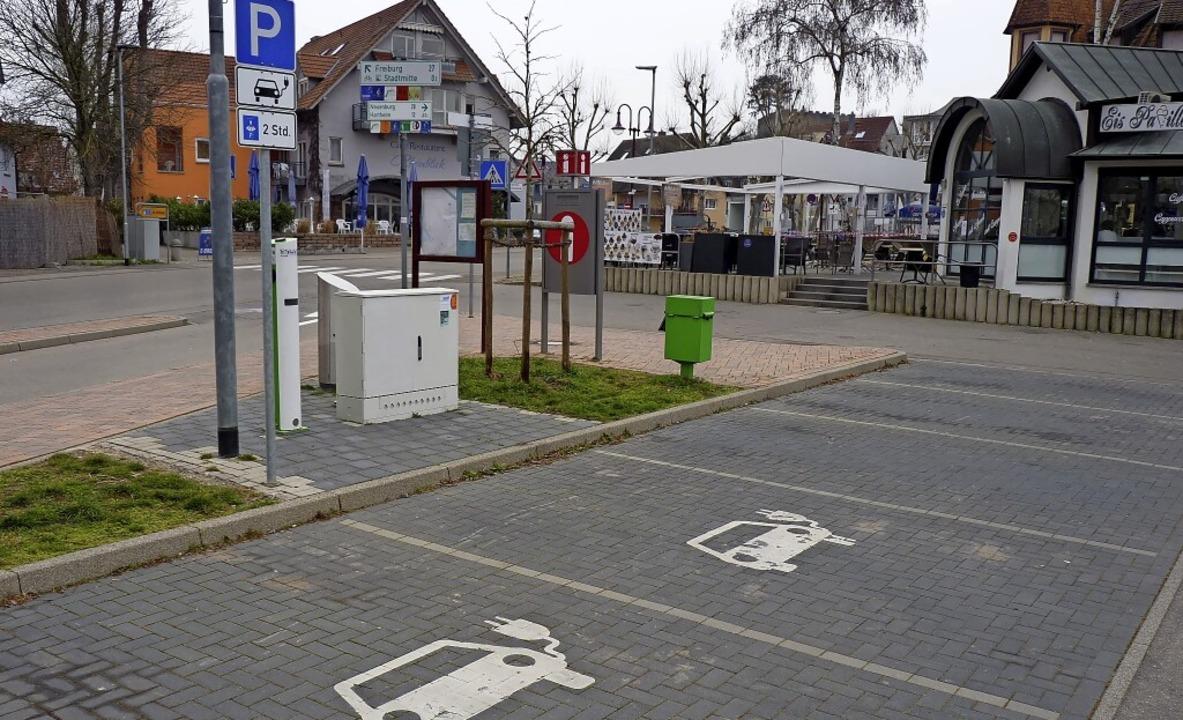 Bisher gibt es in Breisach nur zwei öf...ch-Ulmann-Platz (Foto) und am Rathaus.    Foto: Sattelberger