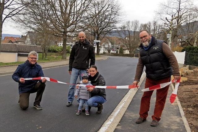 Die sanierten Straßen sind wieder für den Verkehr frei