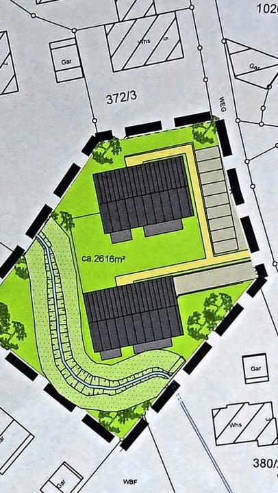 Für die Realisierung eines Bauvorhaben... der Lageplan zeigt den neuen Verlauf.    Foto: Christiane Sahli