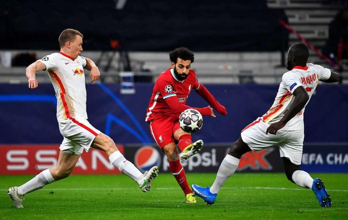 RB Leipzig ist im Achtelfinale der Champions League gescheitert.     Foto: Marton Monus (dpa)