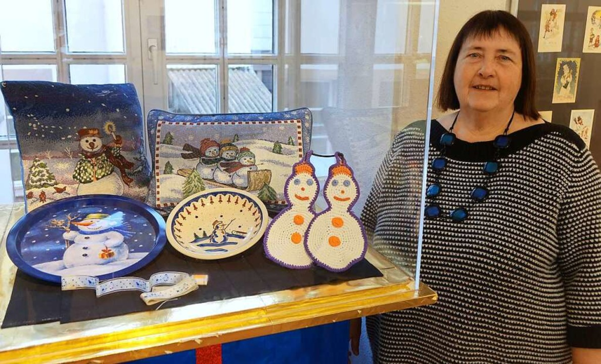 "Museumsleiterin Ulla K. Schmid in der ...ellung ""Frostige Gesellen""  | Foto: Roswitha Frey"