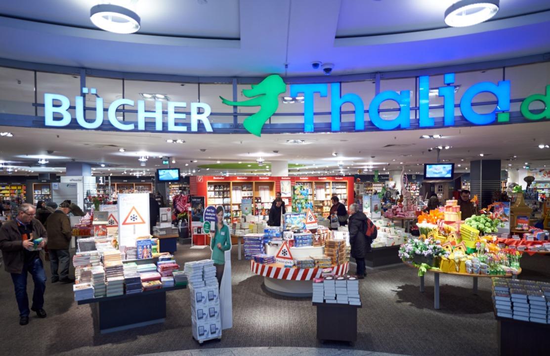 Eingangsbereich einer Filiale der Buchhandelskette Thalia    Foto: Bernd Thissen
