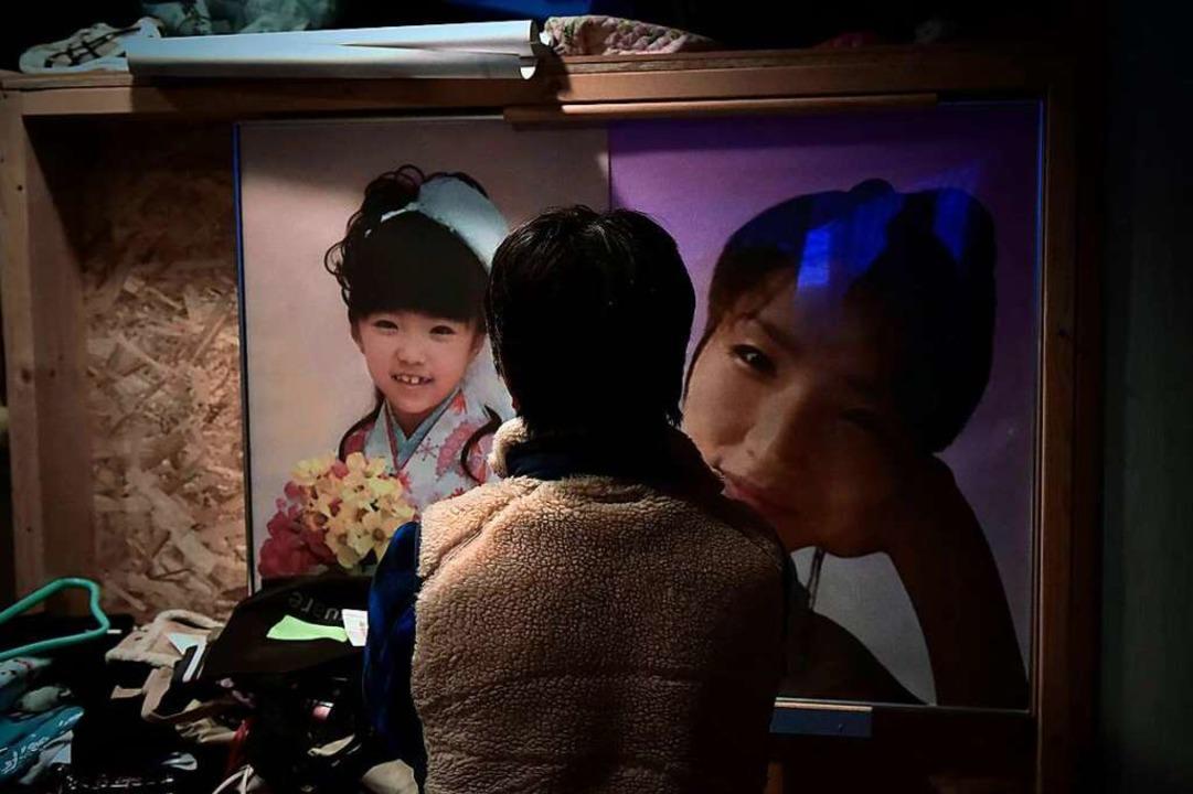 Das Foto seiner Tochter Yuna hat der Vater in  seinem Haus aufgehängt.  | Foto: Yuki Iwanami
