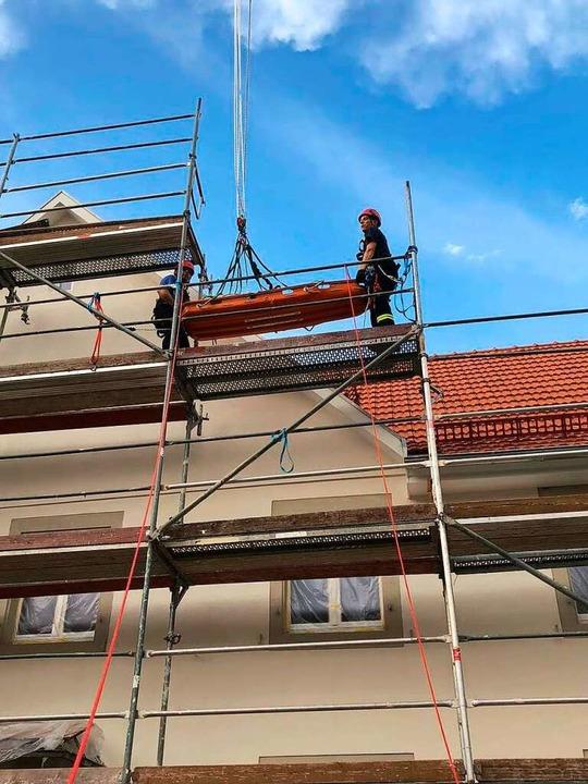Wer  Menschen  aus höheren Häusern ret...rchens Wehr nun Fachleute ausgebildet.  | Foto: Freiwillige Feuerwehr Efringen-Kirchen