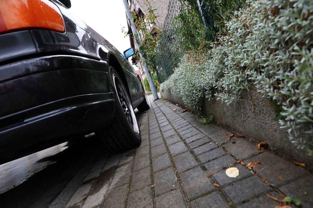 Immer wieder gibt es in Friesenheim Kl...tellplatzsatzung will dagegen angehen.  | Foto: Christoph Breithaupt
