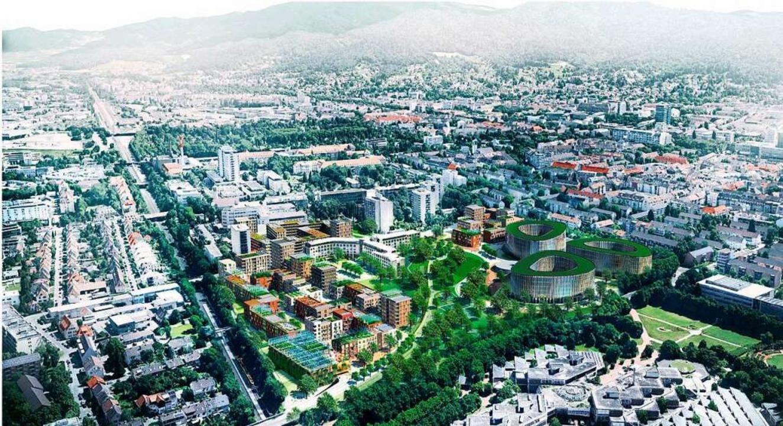 Visualisierung des Wohnquartiers Kleineschholz  | Foto: STADT FREIBURG Dietrich | Untertrifaller Architekten, Bregenz (A)