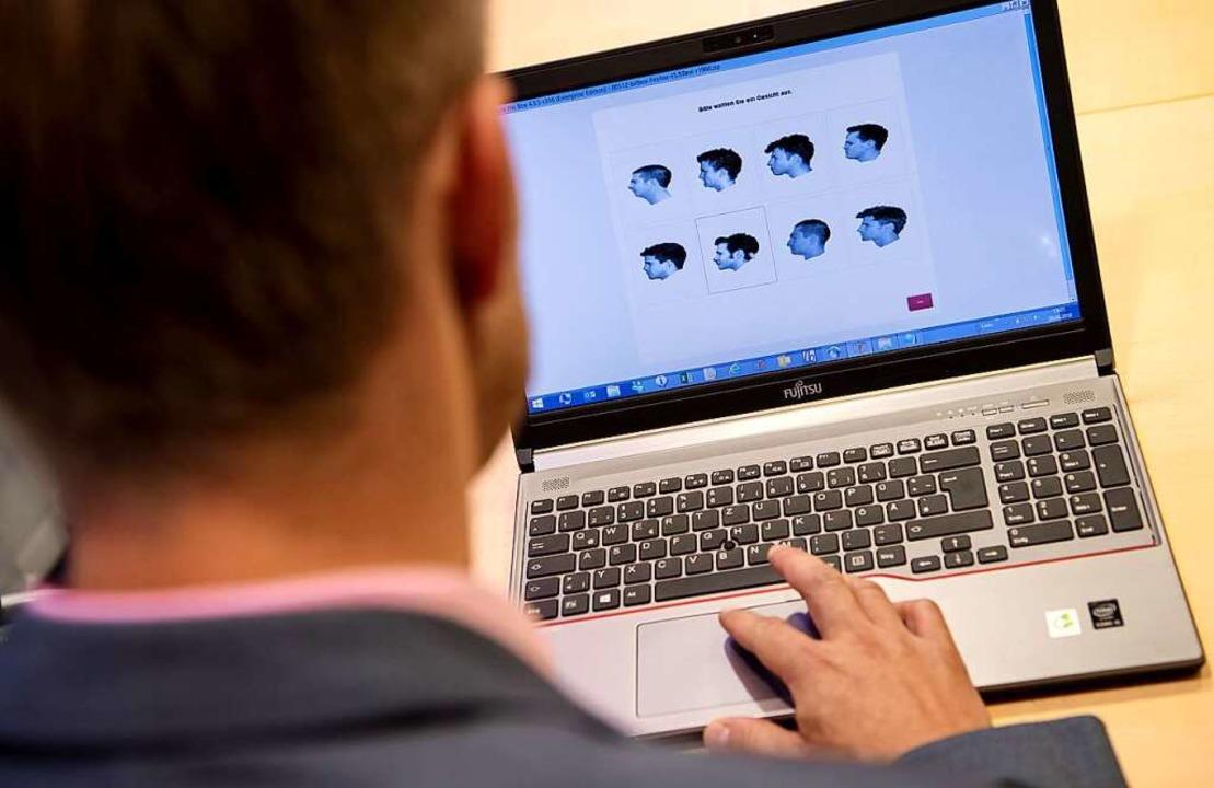 Ein Online-Test erkennt die Super-Recogniser-Fähigkeiten.    Foto: Sven Hoppe (dpa)
