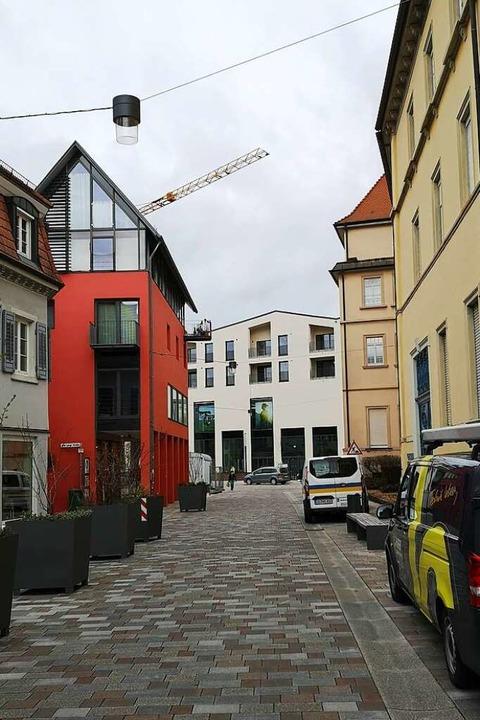 Blick aus der Lange Straße aufs Rée-Carré: Die Traufhöhe  | Foto: Ralf Burgmaier