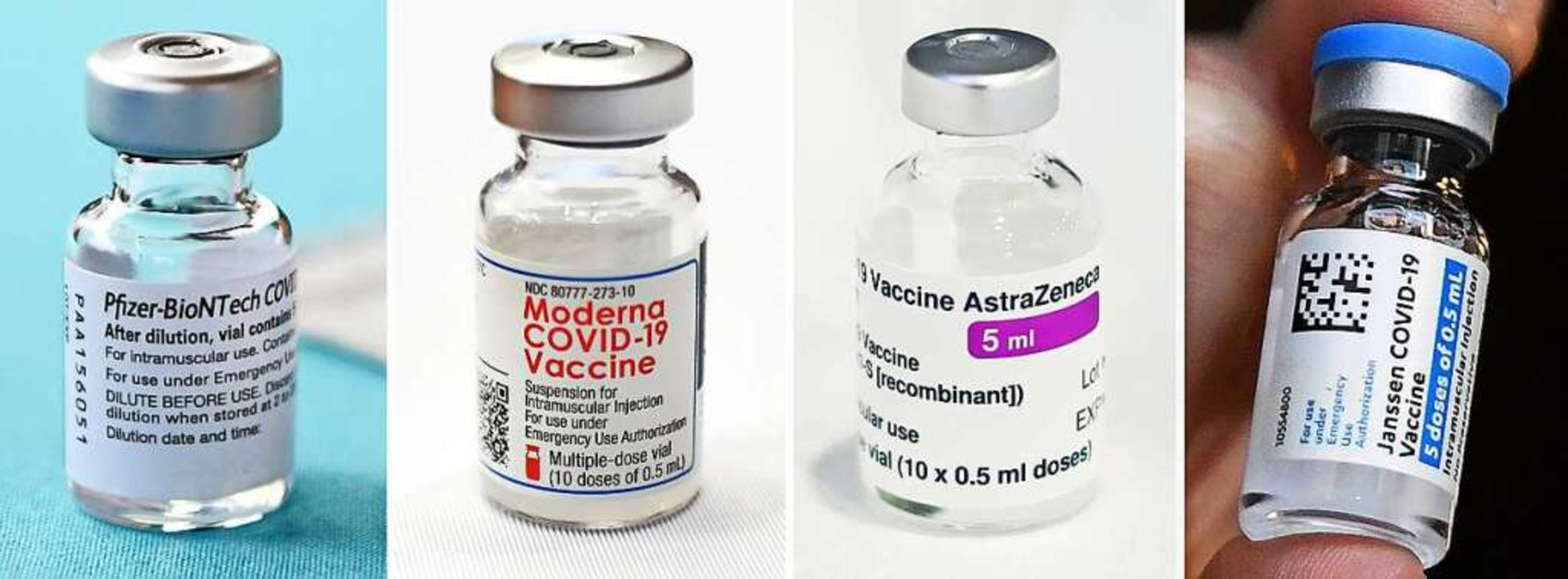 Vier Impfstoffe sind bald im Einsatz.  | Foto: Jessica Hill;Liam Mcburney (dpa)