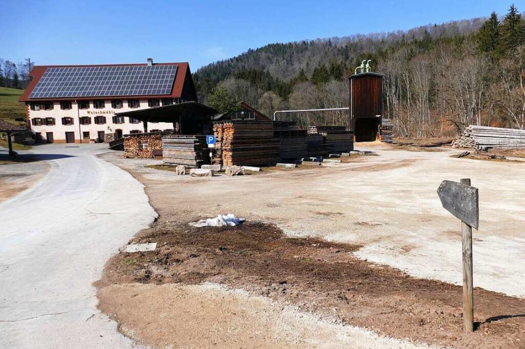 120 Parkplätze könnten auf dem Gelände...de im Gemeinderat Wutach befürwortet.   | Foto: Juliane Kühnemund