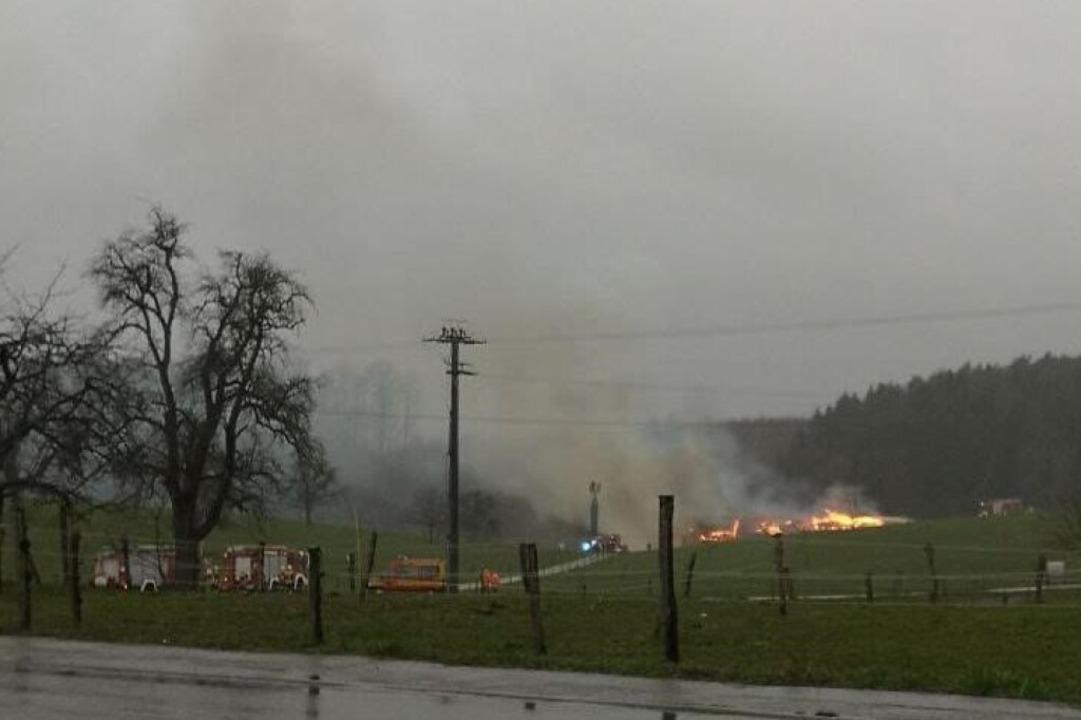 Die Feuerwehr ist im Einsatz  | Foto: Privat