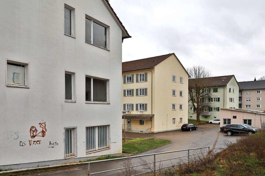 Die Gebäude in der Jammstraße werden a...ssen. Es entstehen 55 neue Wohnungen.   | Foto: Christoph Breithaupt