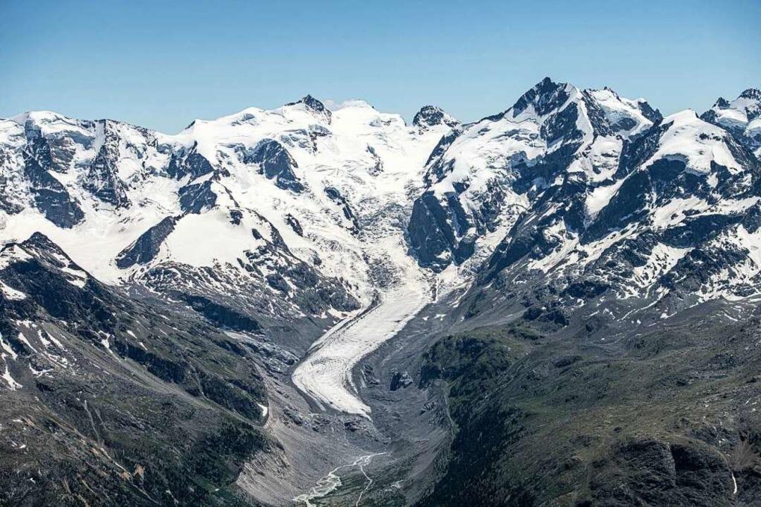 Der Morteratschgletscher von oben  | Foto: Mayk Wendt