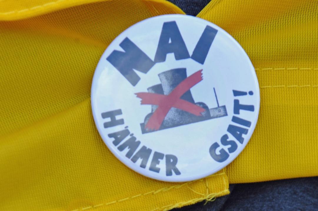 Nai hämmer gsait – der Slogan der Anti-Wyhl-Bewegung.  | Foto: Michael Bamberger