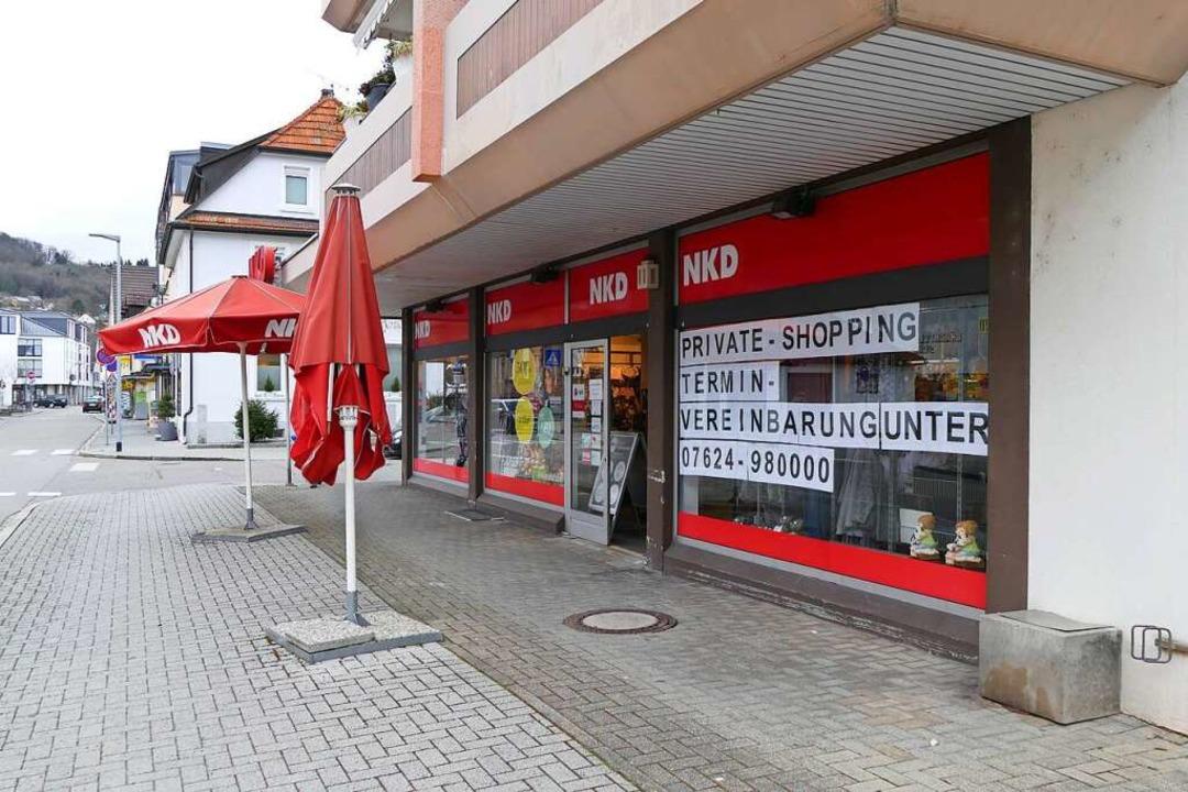 Bei NKD soll man Termine telefonisch vereinbaren.  | Foto: Dora Schöls
