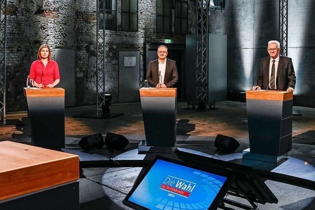 TV-Wahldebatte: Kretschmann will Eisenmann keine Note 6 geben