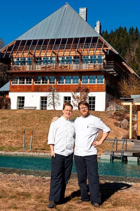 53  der neuen Grünen Michelin-Sterne f...Karen und Wolfram Hegar freuen sich.    | Foto: Wolfgang Scheu