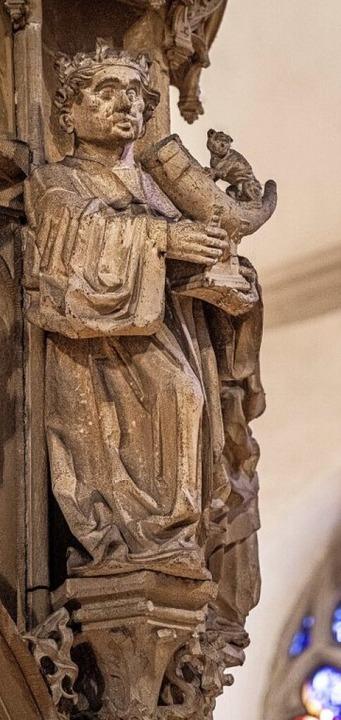 König Balthasar schenkt dem Jesuskind Weihrauch.     Foto: Martin Hau