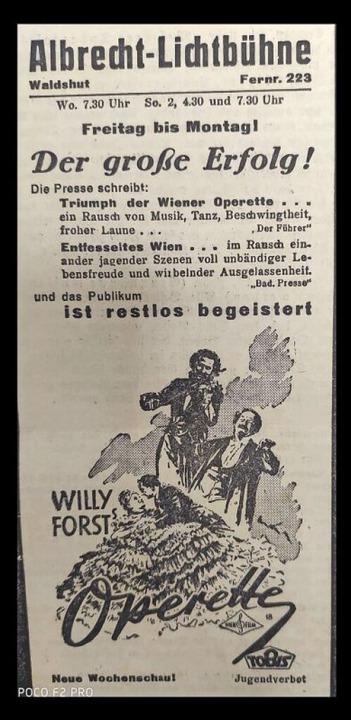 Filme mit harmlosen Inhalten wie &#822...n, Nr. 44, Freitag, 21.Februar 1941).     Foto: Irene Krauß