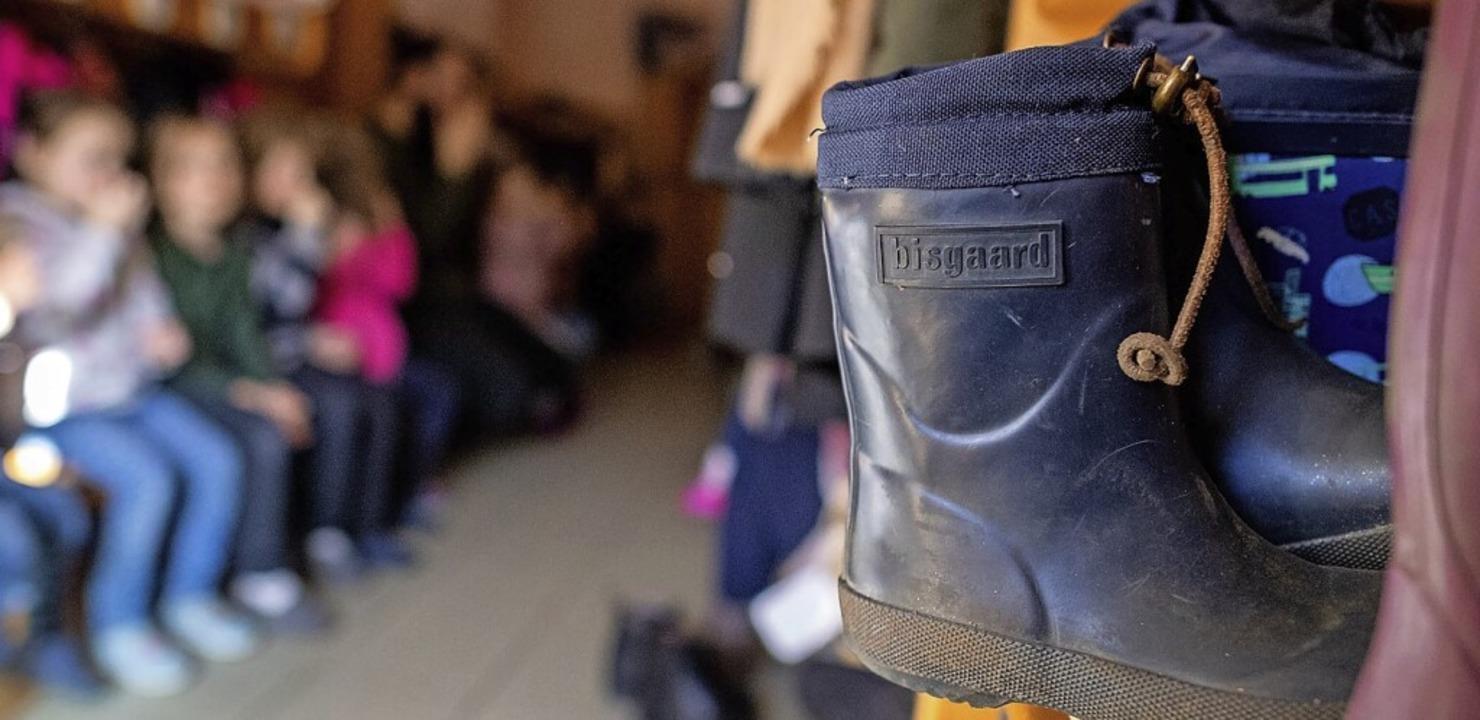 Die Gebühren für die Kita Regenbogen i...r Januar und Februar erlassen werden.     Foto: Sina Schuldt (dpa)