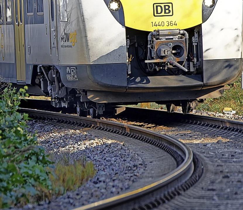 Das Kurvenkreischen der Züge auf der B...ab Sommer der Vergangenheit angehören.    Foto: Martin Wendel