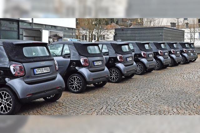 Eine Flotte von Einkaufswägele