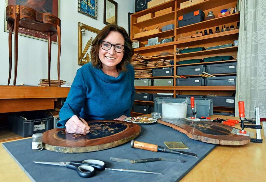 Kerstin Nonnenberg in ihrer Zähringer Werkstatt  | Foto: Michael Bamberger