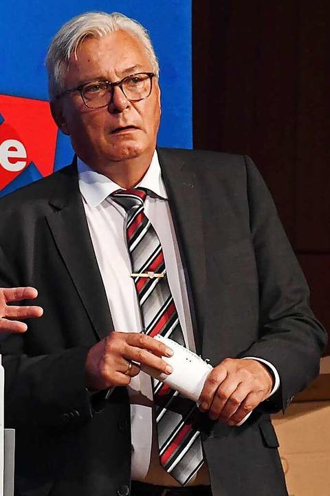Bernd Gögel, Spitzenkandidat der AfD, FOTO: Uli Deck (DPA)  | Foto: Uli Deck (dpa)