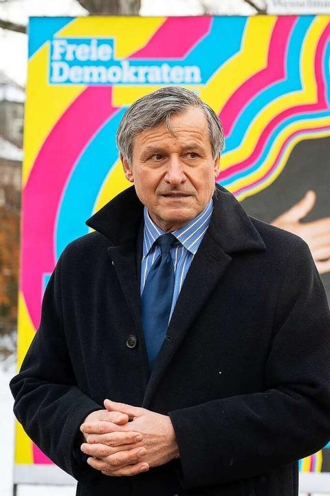 Hans-Ulrich Rülke, Spitzenkandidat der Liberalen FOTO: Sebastian Gollnow (DPA)    Foto: Sebastian Gollnow (dpa)