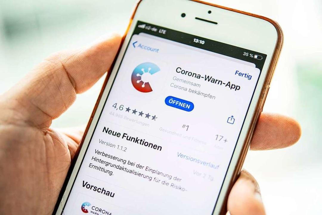 Die deutsche Corona-Warn-App  | Foto: Zacharie Scheurer (dpa)