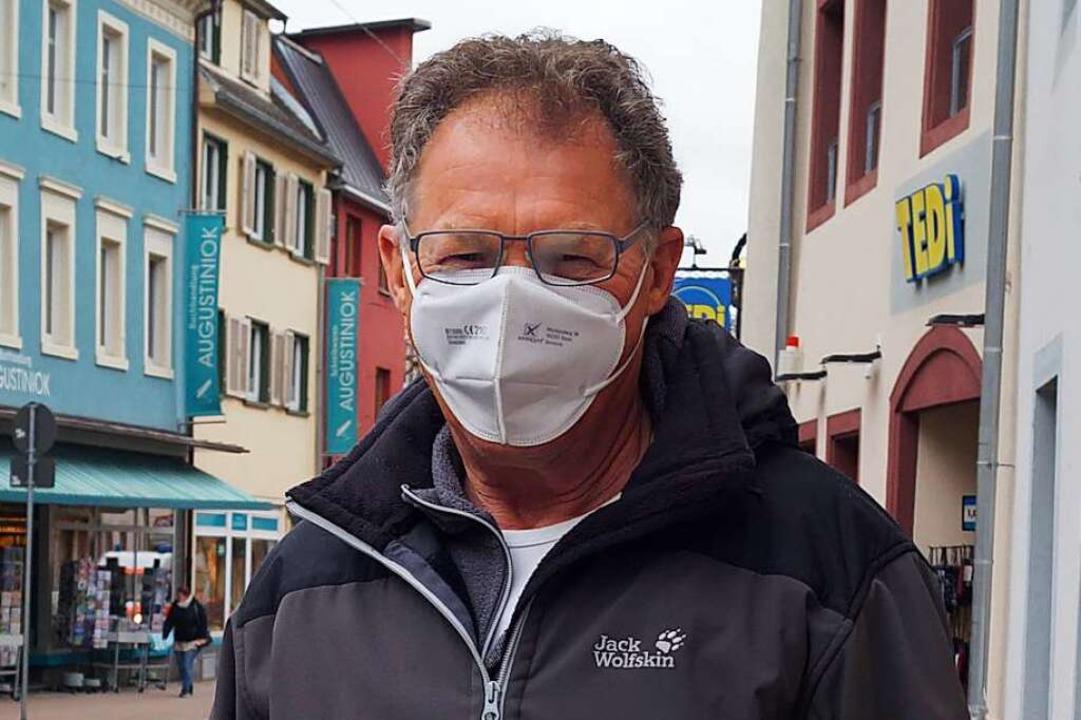 Franz Benz-Gäng (66), Waldkirch: Ich w...chtet gefühlt haben etwas einzukaufen.    Foto: Savanna Cosma