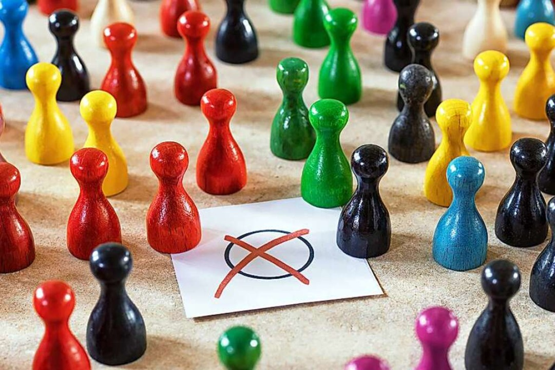 Die politische Farbenlehre ist in Frei...dt aufgeteilt ist auf zwei Wahlkreise.  | Foto: INGO BARTUSSEK