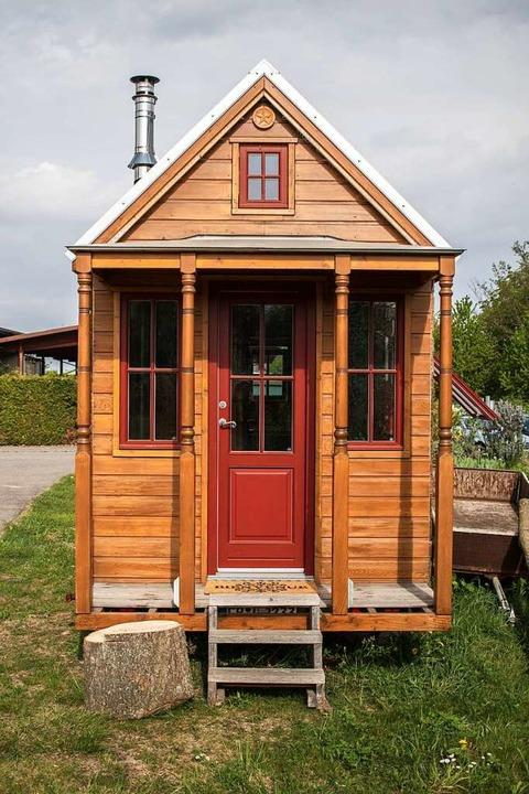 Tiny-Häuser wie hier in Staufen, solle... Neubaugebiet Wassersack II entstehen.    Foto: Charlotte Janz