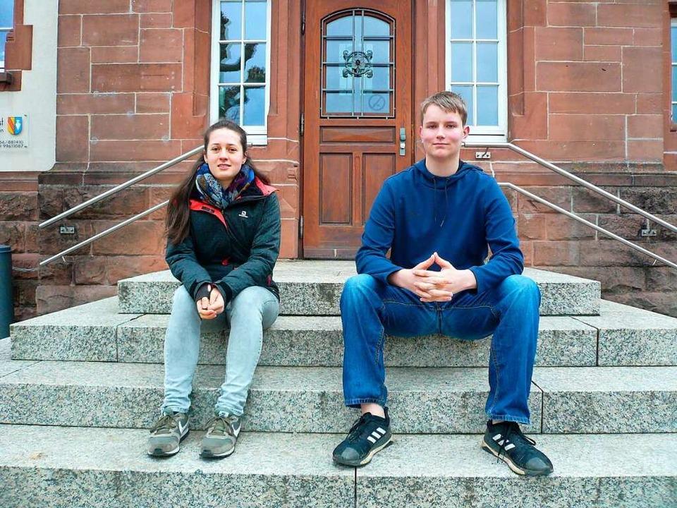 Die neuen Sprecher des Denzlinger Juge...ts: Lara Eckerle und Daniel Hofstetter  | Foto: Nina Herrmann
