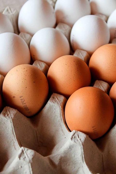 Zum Ausblasen sollten die Eier frisch und sauber sein.    Foto: Cornelia Liebwein