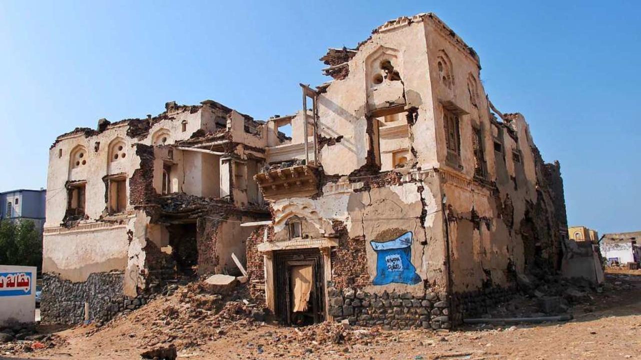 Zerstörte Häuser in der Küstenstadt Mocha.  | Foto: Johannes Dietrich