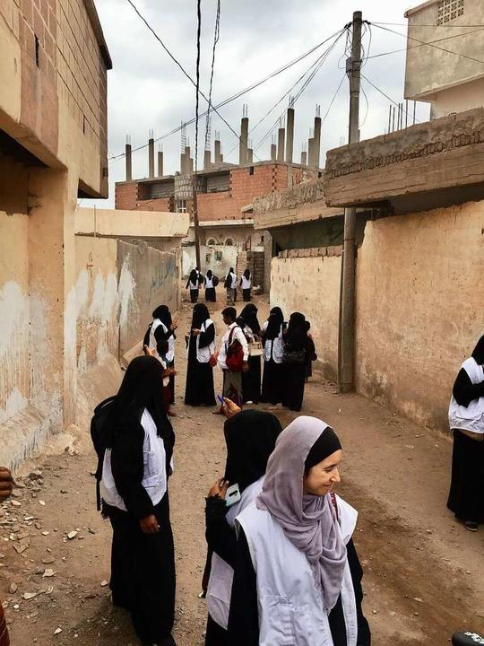 Einwohner Tuhaytas geben Auskunft über die Ernährungslage in der Stadt.  | Foto: Johannes Dieterich
