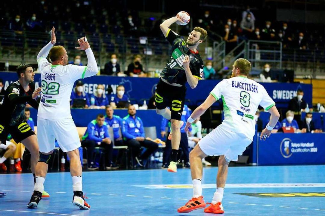 Deutsche Handballer auf Olympia-Kurs  | Foto: MICHAEL HUNDT (AFP)