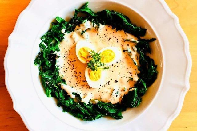 Eier in Senfsoße müssen keineswegs rustikal daherkommen