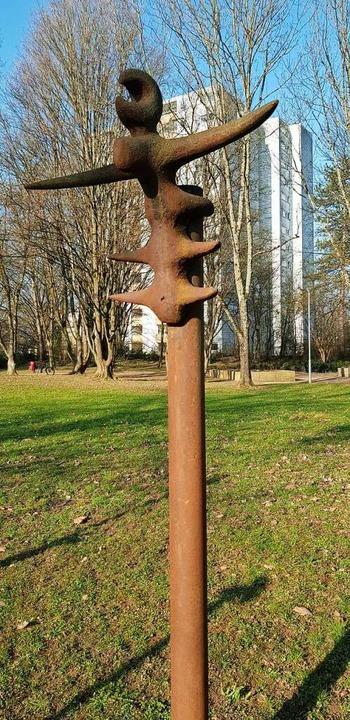 Vom Weg zum Park: Die Skulpturen solle...einer Grünfläche konzentriert werden.   | Foto: Gerhard Walser