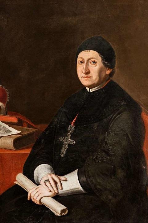 Abt Martin Gerbert (Porträt um 1780)    Foto: Erzbischöfliches Ordinariat Freiburg, Bildarchiv. Foto: Michael Eckmann