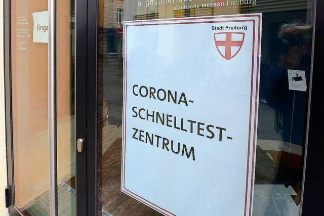 Schnelltests sind in Freiburg stark gefragt