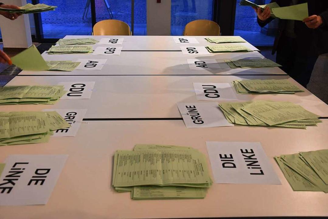 Wahlzettel    Foto: Andrea Steinhart