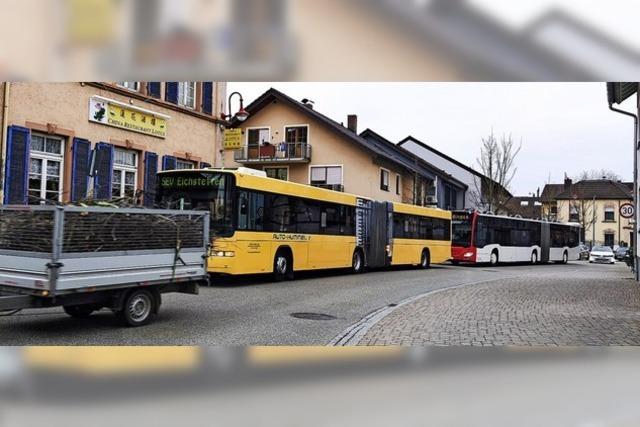 Verkehrsbehinderungen durch Linienbusse