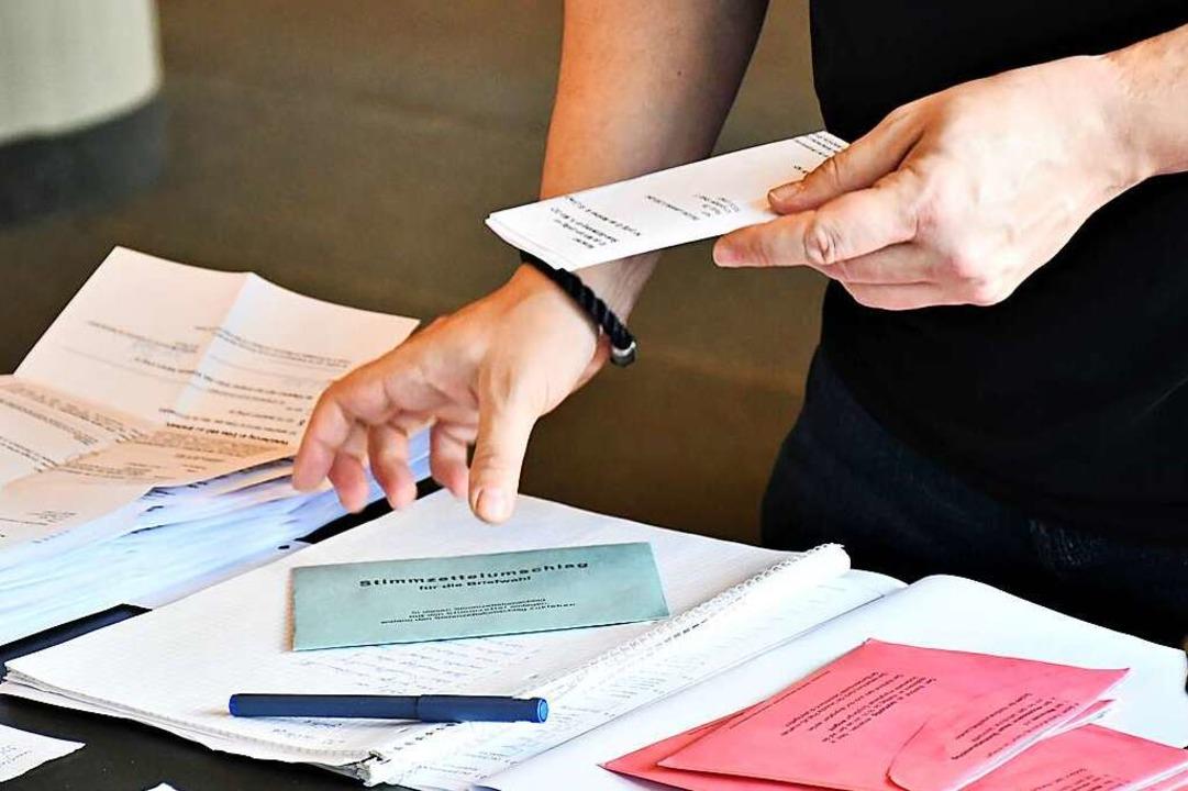 In Inzlingen gingen viele Wähler nicht...en stattdessen per Brief (Symbolfoto).  | Foto: Barbara Ruda