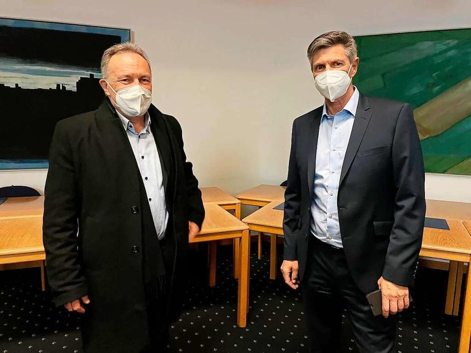 Josha Frey (links) hat sich deutlich gegen Christof Nitz durchgesetzt.  | Foto: Barbara Ruda