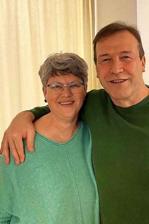 Thomas Marwein und seine Ehefrau Heidi waren in Feierlaune.  | Foto: privat
