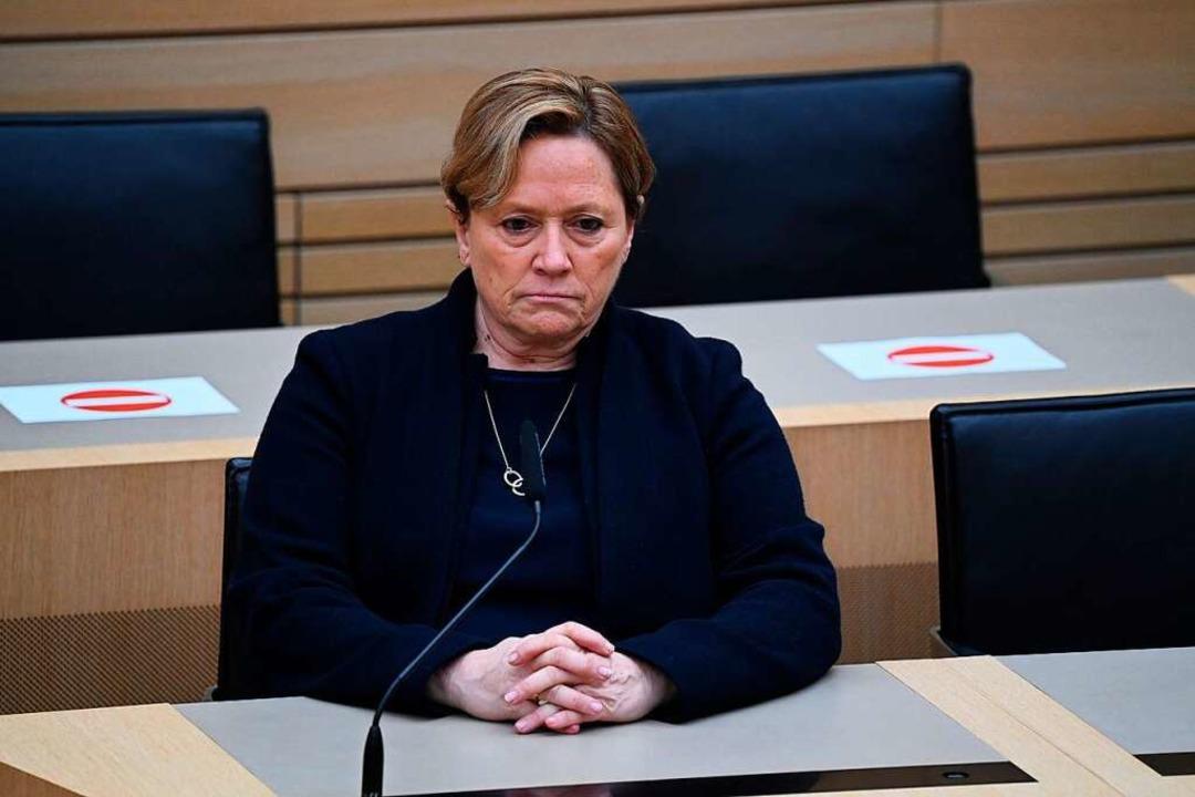 Übernimmt für die Niederlage die Veran...DU-Spitzenkandidatin Susanne Eisenmann  | Foto: Uli Deck (dpa)